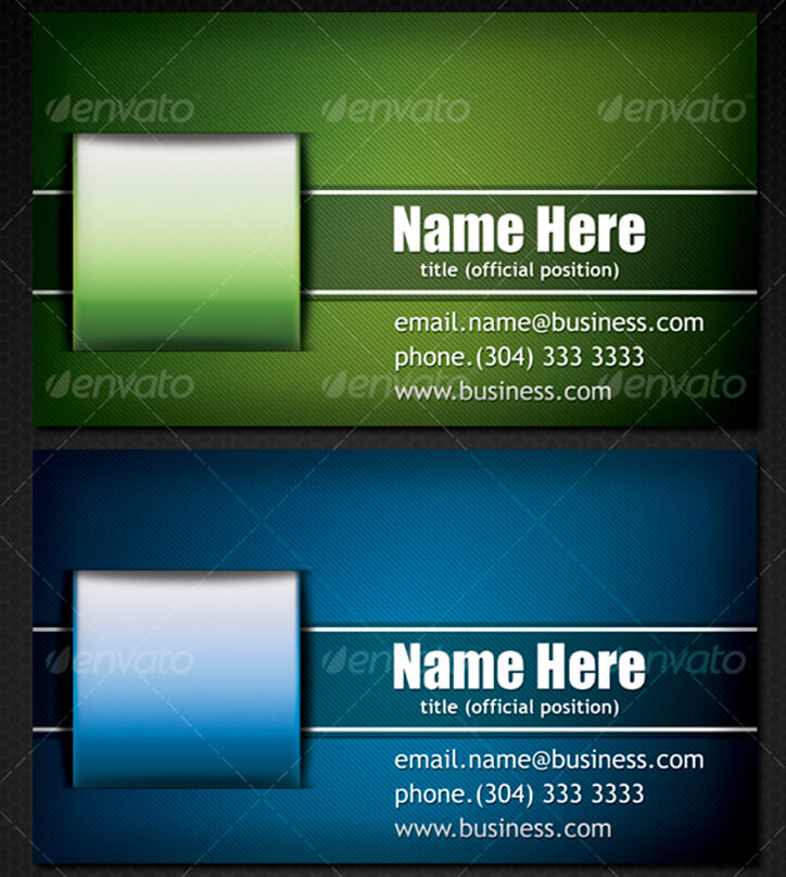 Architecture Business Card With 3 Color Shemes
