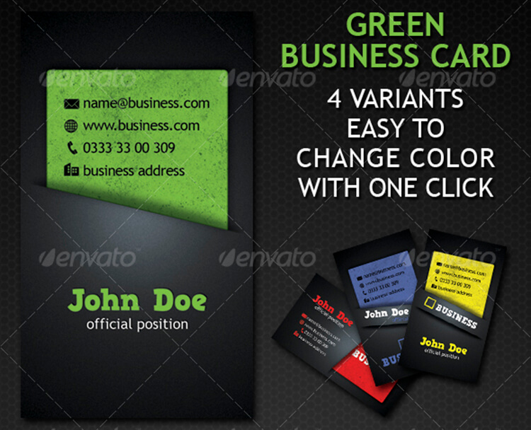 Architecture Business Card with 4 Variation