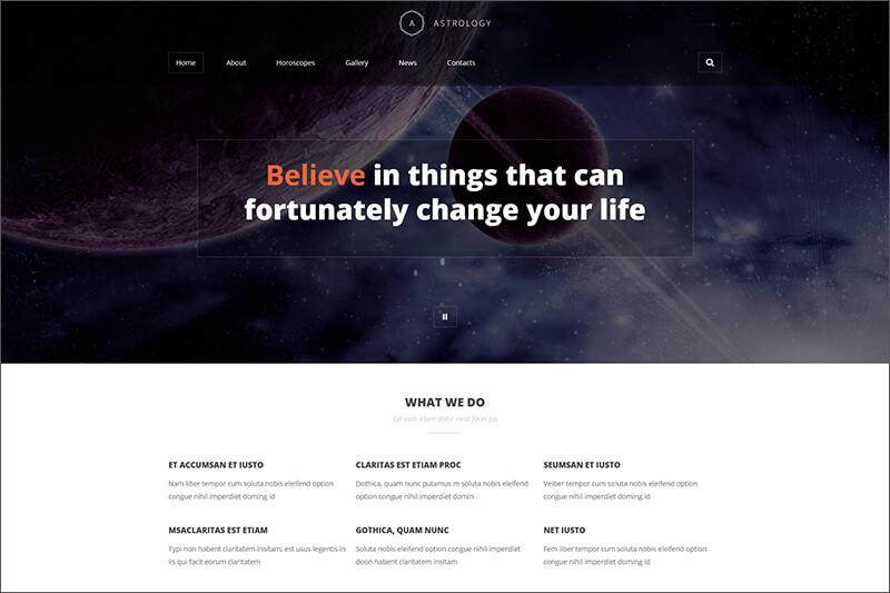 Astrologist Portfolio Joomla Template