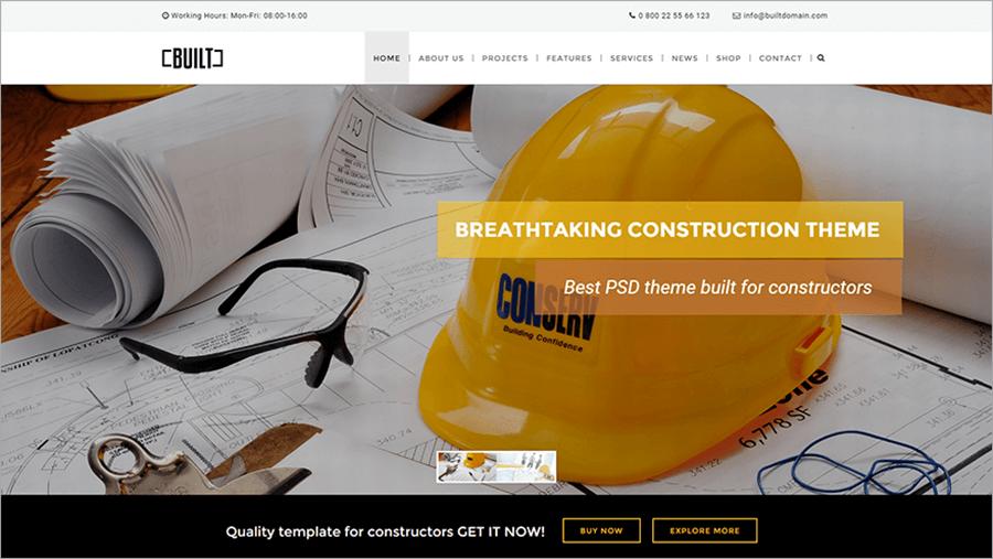 Construction Business WPTheme