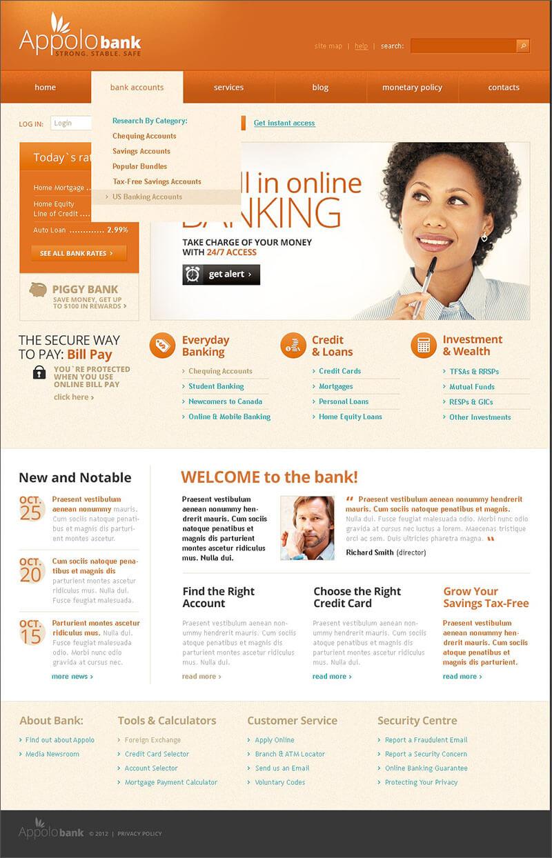 Bank Online Joomla Template