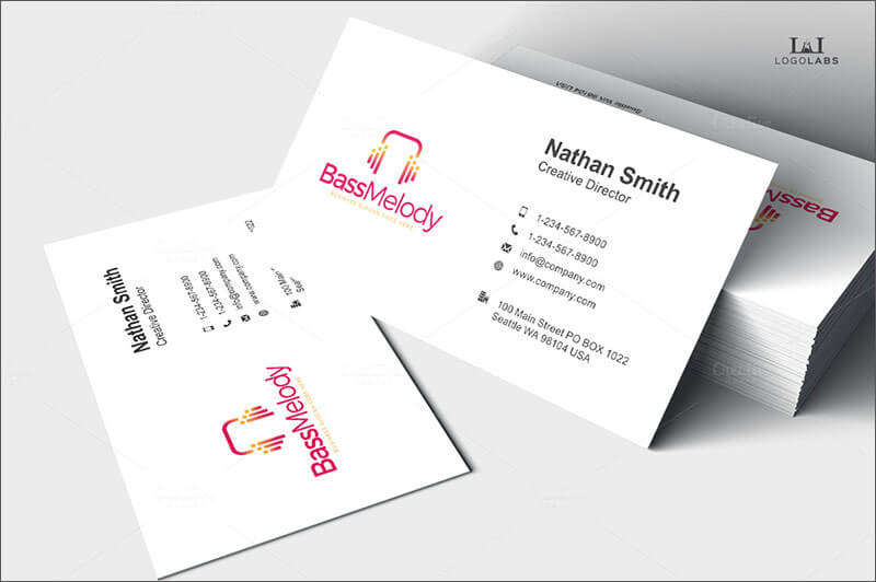 Bass Melody Business Card