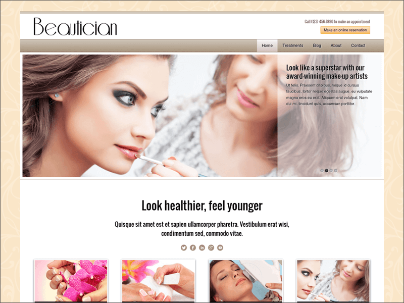 Beautician WordPress Theme