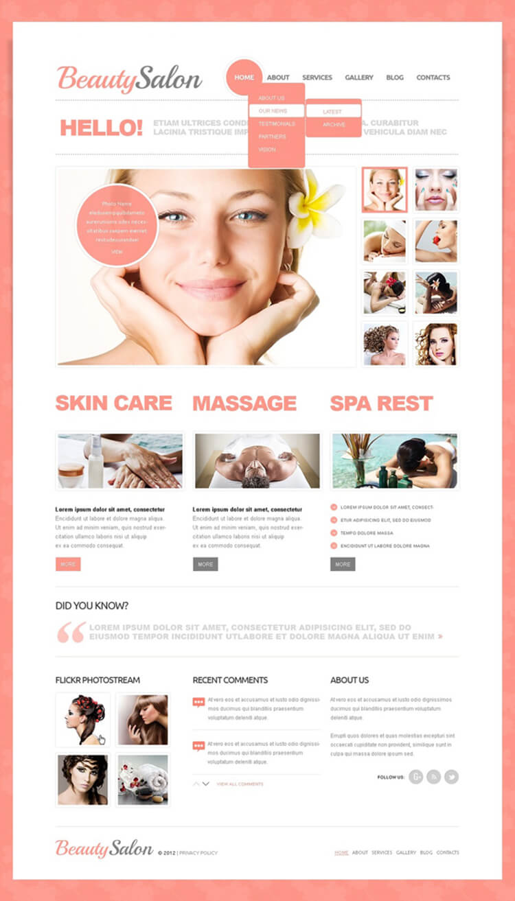 Beauty Salon Drupal Template