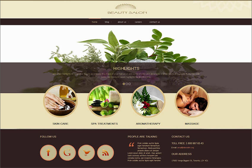 Beauty Salon Joomla Tempalate