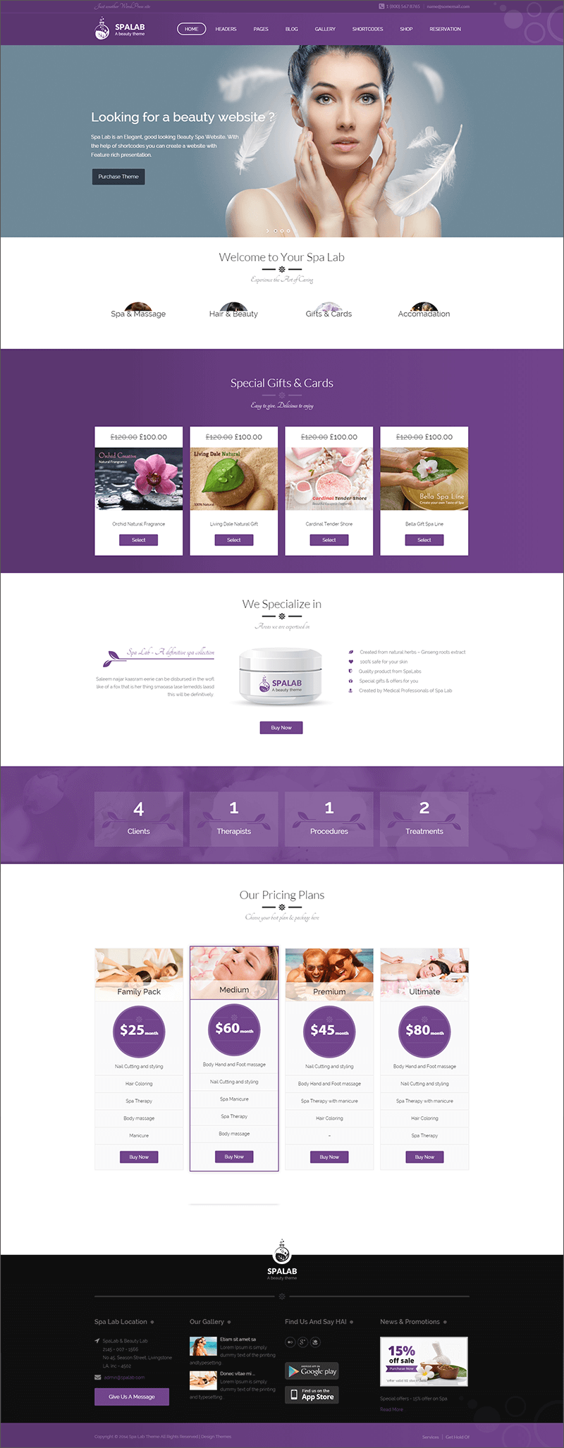 Beauty Salon WordPress Blog Theme