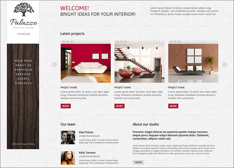 Best Interior Design Joomla Template