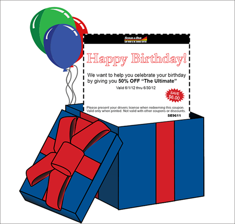 Birthday Email Coupon