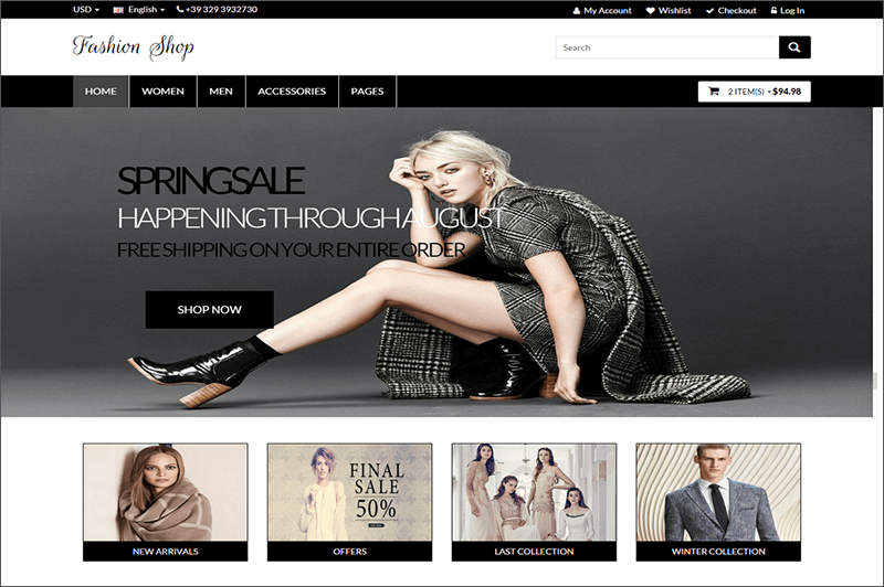 Bootstrap Fashion Shop Template
