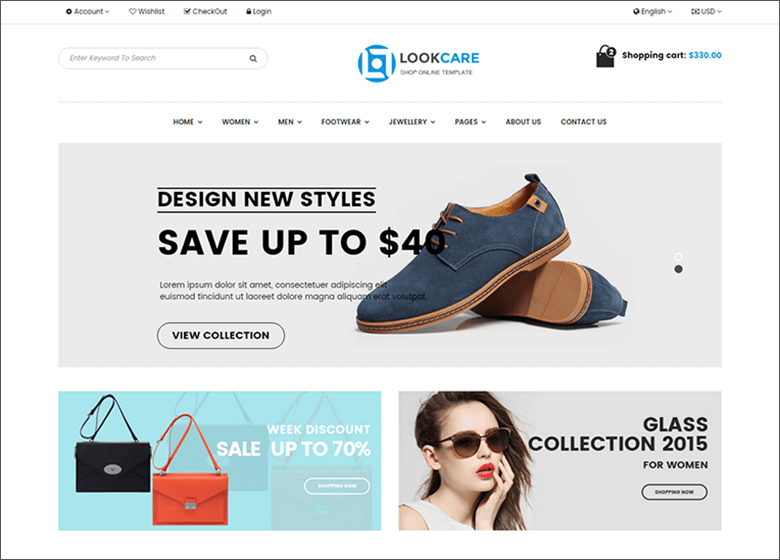 Bootstrap Fashion Template