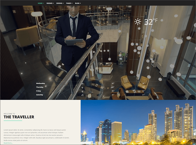 Bootstrap & HTML Hotel Template