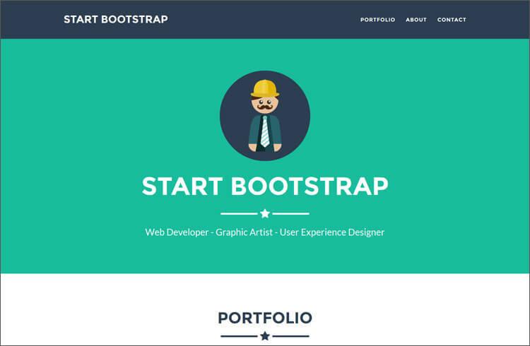 Bootstrap Portfolio Theme For Freelancers