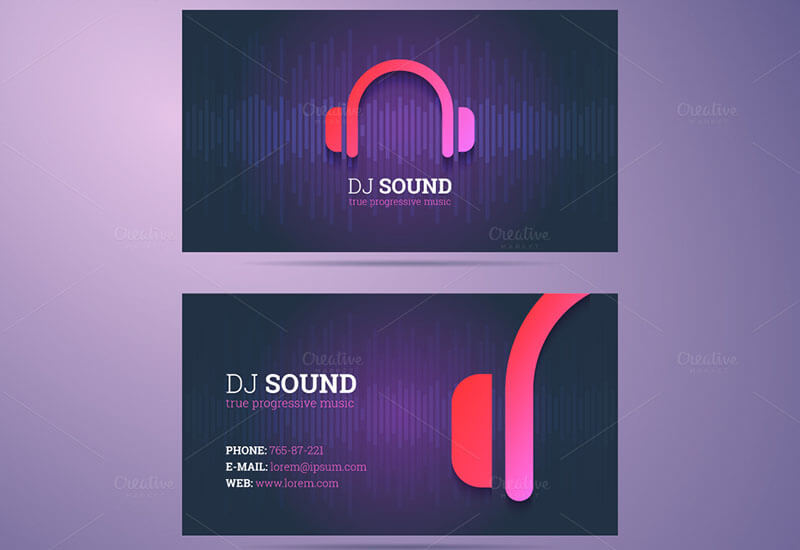 32 dj business card templates free download creativetemplate business card dj template accmission Images