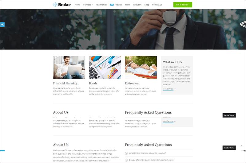 Business & Finance WordPress Theme