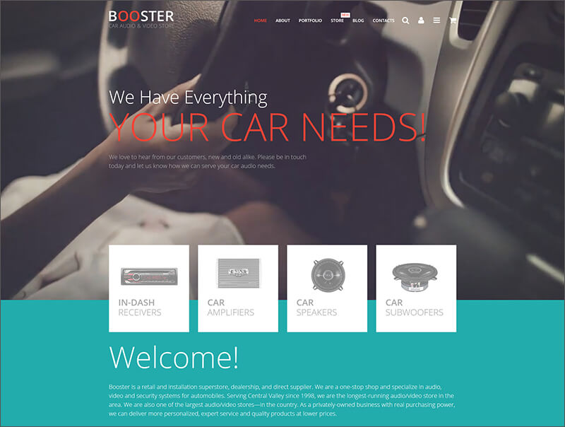 Car Audio & Video Store WooCommerce Theme