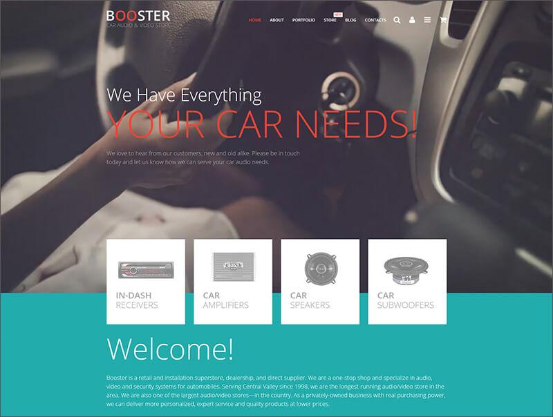 Car Audio & Video Store WooCommerce Theme