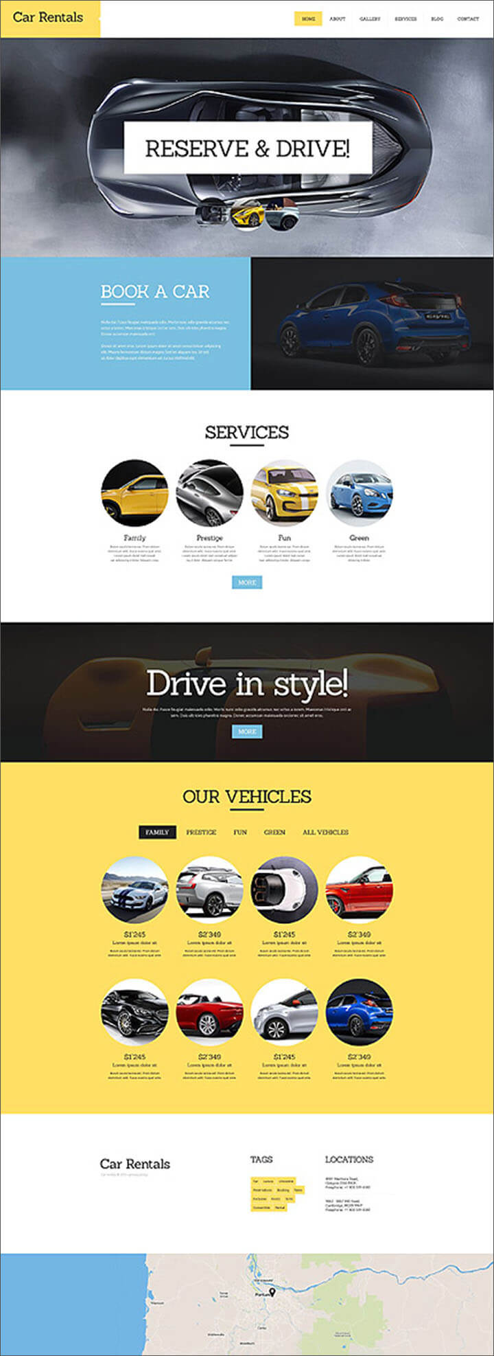 Car Rental Responsive Joomla Template