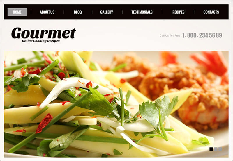 Cooking Recipes Joomla Blog Template