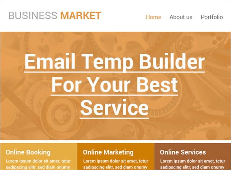 Creative Business Email Template