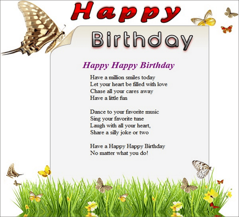 Customizable Birthday Email Template