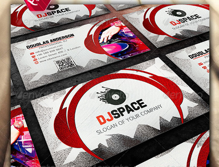32 dj business card templates free download creativetemplate dj business card creative template wajeb Gallery