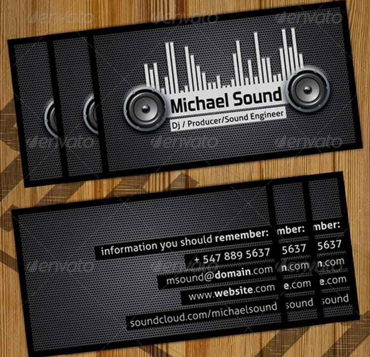 DJ Business Card Template PDS