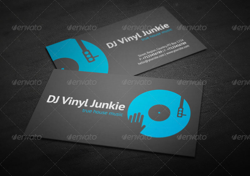 32 dj business card templates free download creativetemplate dj business card template flashek Images