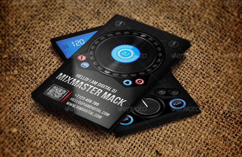 Digital DJ Business Card Template