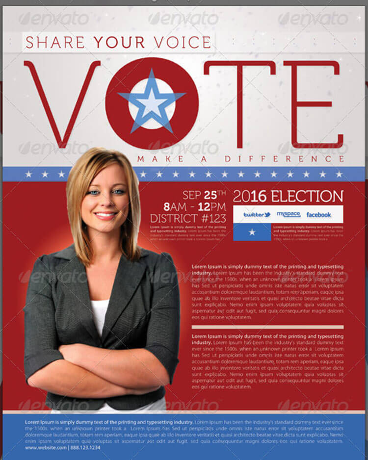 Election Full Page and Mailer Template