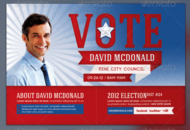 8 election brochure templates free psd design examples for Campaign mailer template