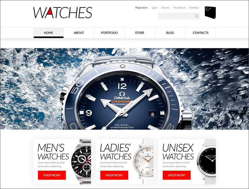 Elegant Watches WooCommerce Theme