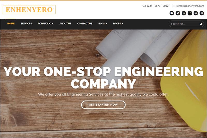Engineering & Industrial WordPress Theme