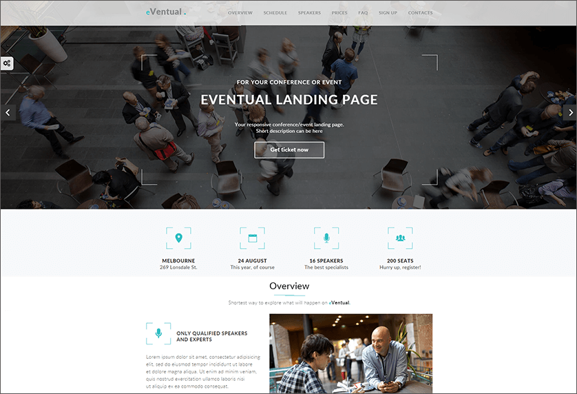 Event & Conference Landing Page