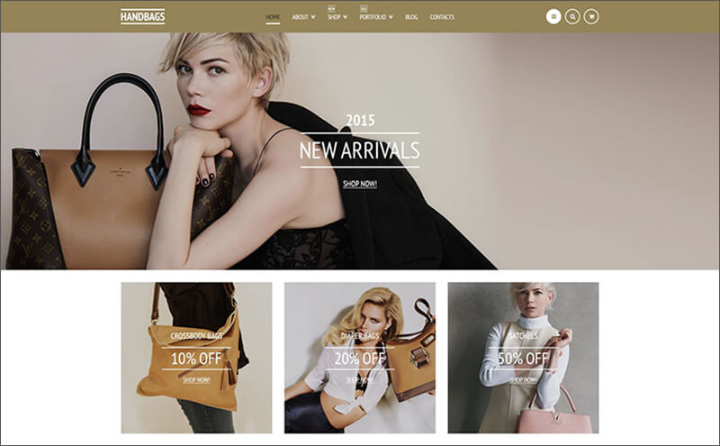Fancy Handbags Bootstrap Theme