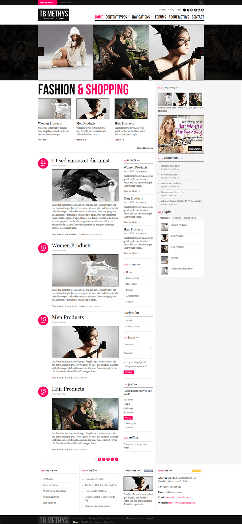 Fashion & Beauty Drupal Template Free