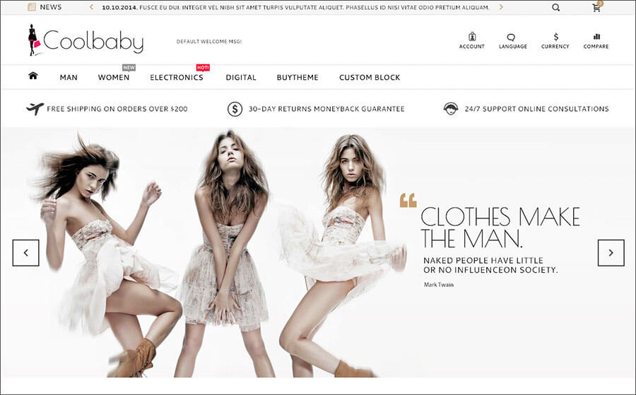 Fashion Bootstrap HTML Theme