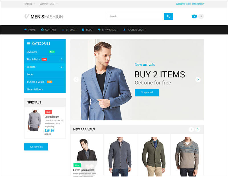Fashion Bootstrap PrestaShop Theme