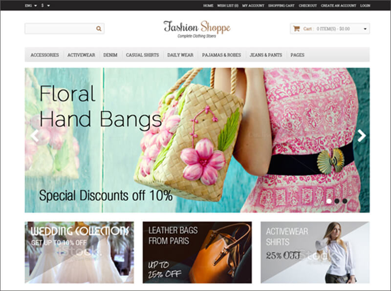 Fashion E-Commerce Bootstrap Template