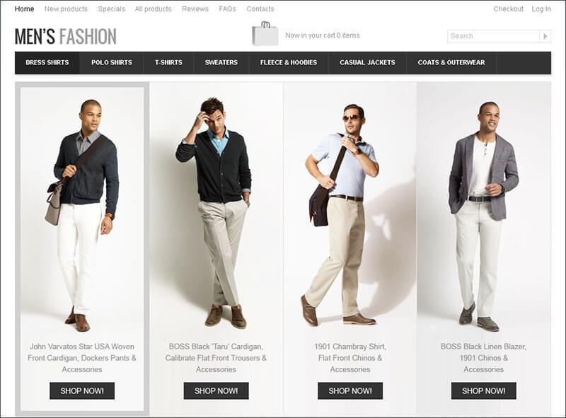Fashion Store Zen Cart Theme