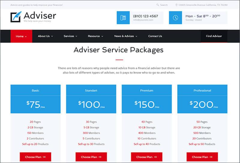 Finance & Accounting WordPress Theme