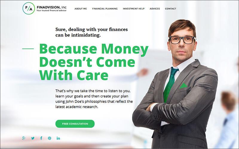 Financial Advisor Responsive WP Theme