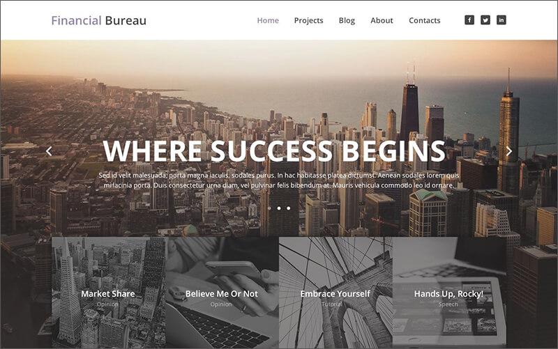 Financial Advisor Responsive WordPress Template