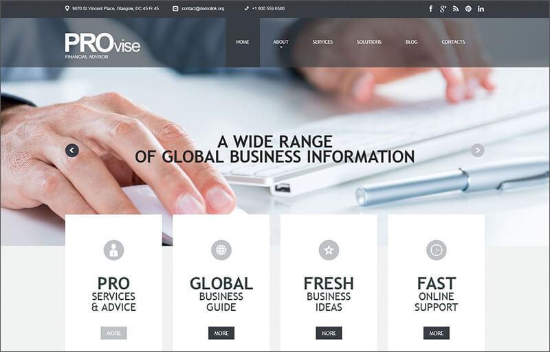 Financial Consultancy WordPress Theme