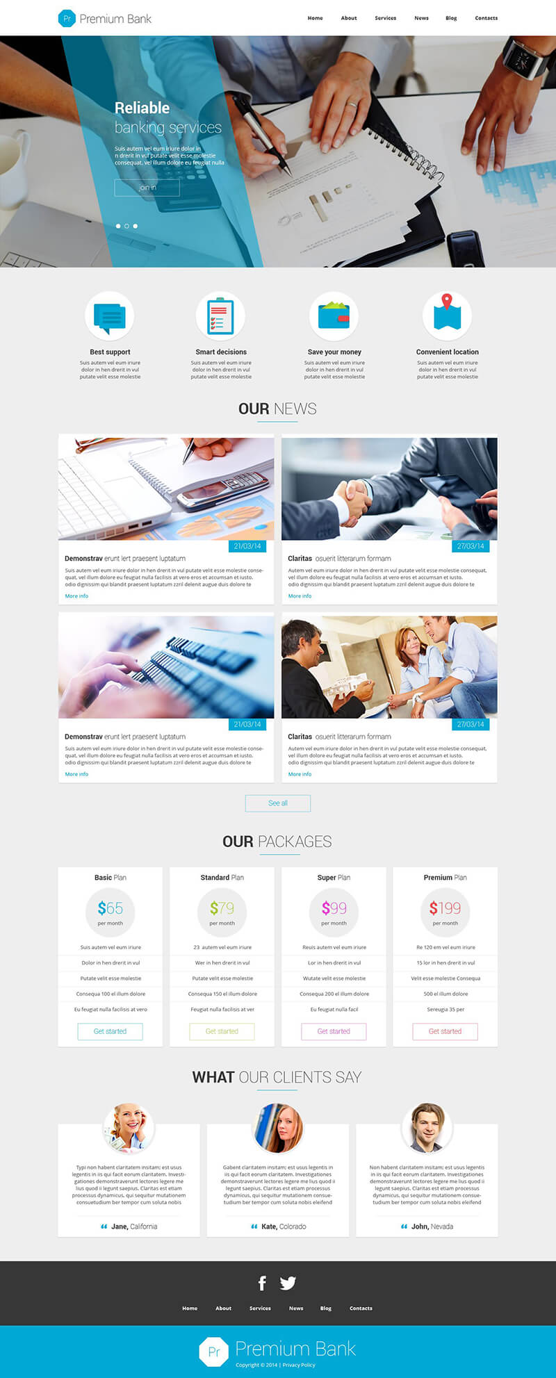 Financial Institution Joomla Template