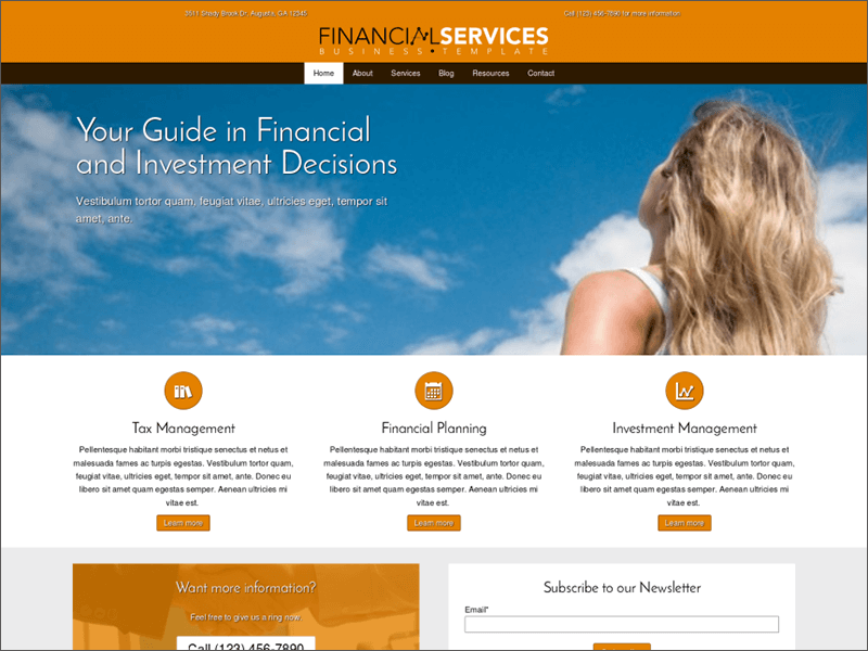 Financial Services WP Theme