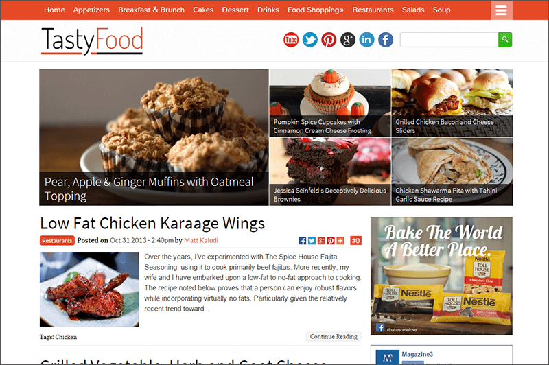 Food recipe food recipe joomla template images of food recipe joomla template forumfinder Images