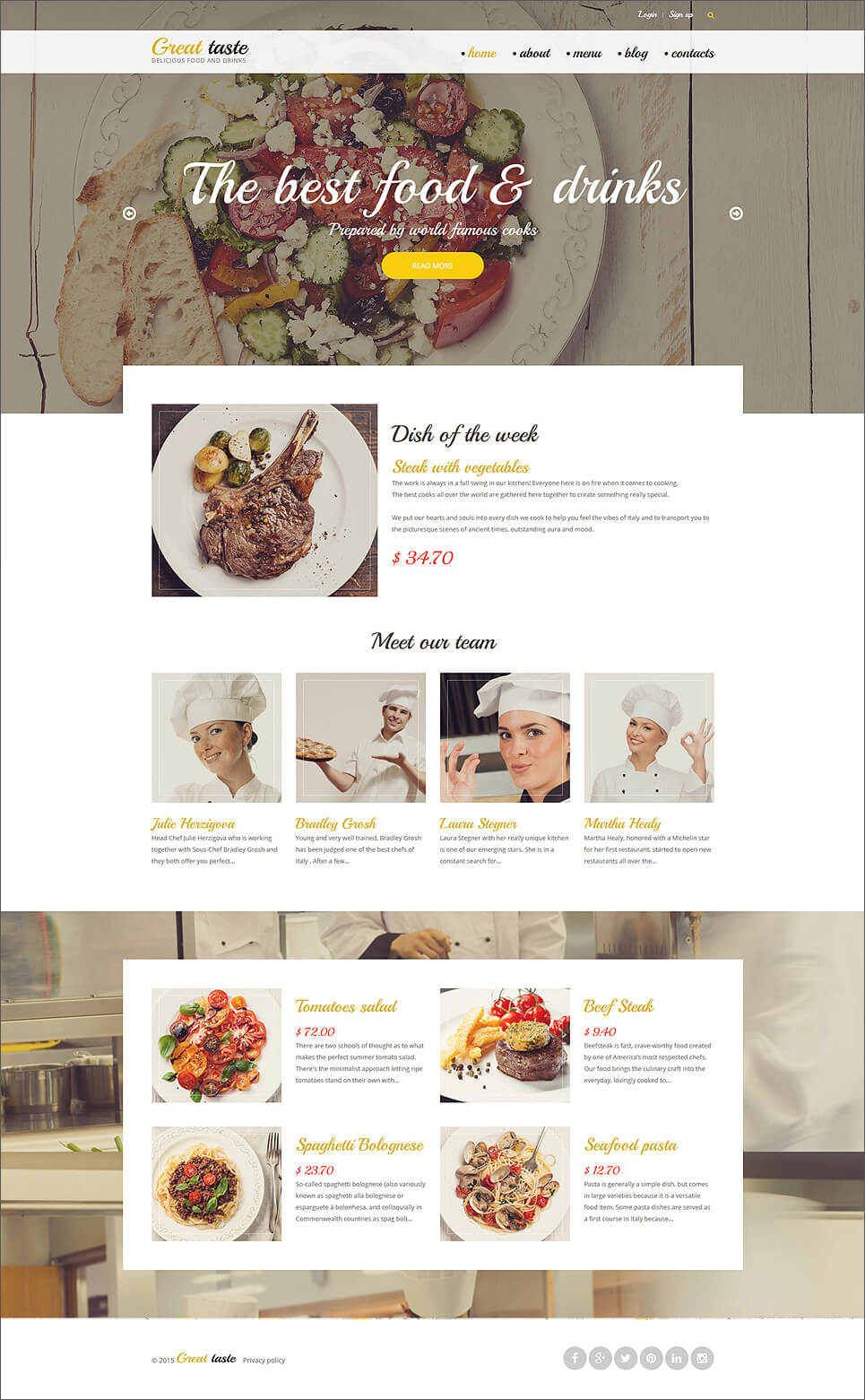 Food & Drink Drupal Theme