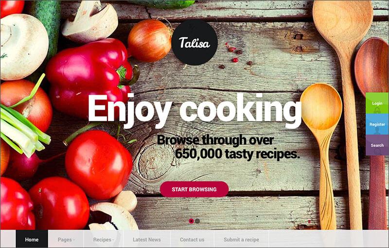 Food Recipes Blog WordPress Theme