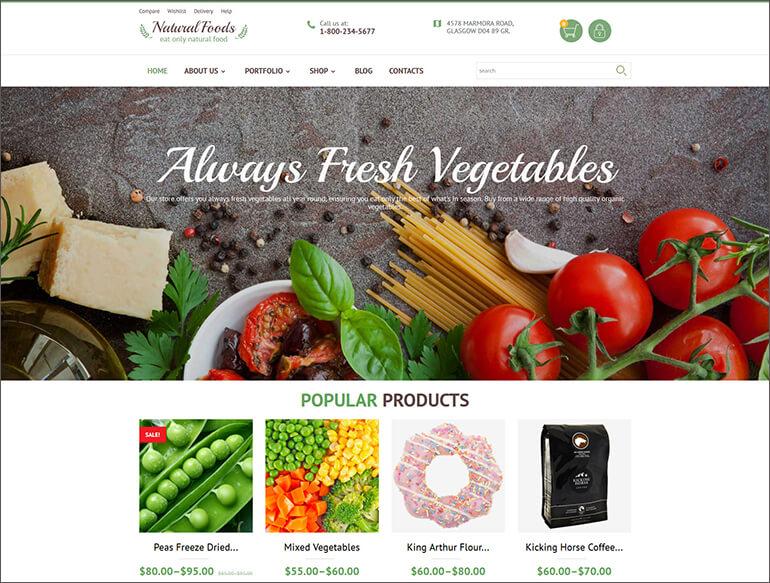 Food Store WooCommerce Theme