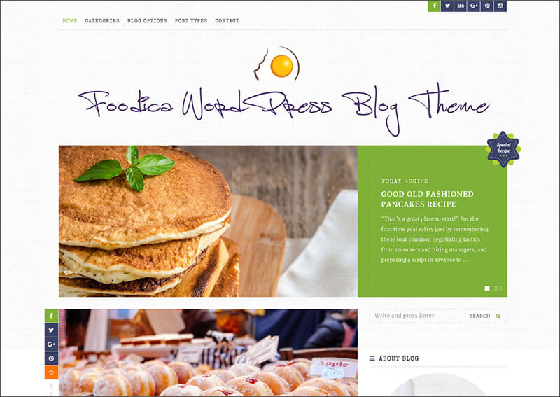 Food WordPress Blog Theme